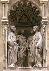 2. Nanni di Banco, Quattro Santo Coronati, 1414, Or San Michele, Florence, Italy, marble.
