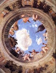 20. Andrea Mantegna, Camera degli Sposi, 1474, CE, Palazzo Ducale, Mantua, Italy, fresco. This piece was part of the