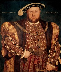 23-11A HANS HOLBEIN THE YOUNGER, Henry VIII, 1540. Oil on wood, 2' 8 1/2