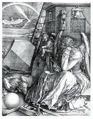 23-6 ALBRECHT DÜRER, Melencolia I, 1514. Engraving, 9 3/8