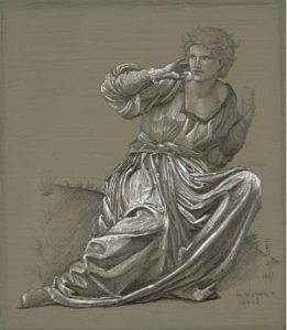 Edward Burne- Jones, Study for The Passing of Venus