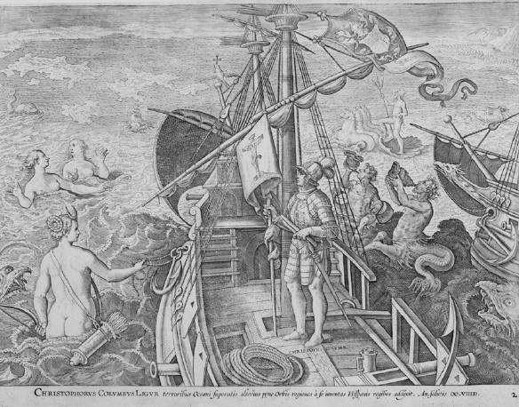 Giovanni Stradano, Columbus in the Americae Retectio series, late 1580s. Engraving. Private collection.