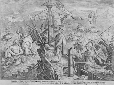 Giovanni Stradano, Vespucci in the Americae Retectio series, late 1580s. Engraving. Private collection