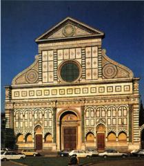 Alberti, Santa Maria Novella facade