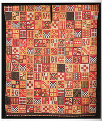 All-T'oqapu tunic Inka. 1450-1540 C.E. Camelid fiber and cotton The All-T'oqapu Tunic is an example of the height of Andean textile fabrication and its centrality to Inka expressions of power.