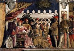 Andrea Mantegna (1431-1506) Duke Gonzaga of Mantua and his Court Frescoes in the Ducal Palace, Mantua  1465-74