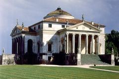 Andrea Palladio. Villa Rotunda. Late Renaissance. Inspired by the Pantheon with four identical facades with projecting porches resembling a Roman Temple.