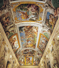Annibale Carracci Loves of the Gods ceiling frescoes in the gallery Palazzo Farnese, Rome Italy Period: Baroque meant to be appropriate so that lay people can read it creating naturalism close to Raphael ( ideal and perfect) altar piece