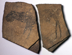 Apollo 11 Stones Nambia. c. 25000-25300 B.C.E. Charcoal on stone The earliest history of rock painting and engraving arts in Africa. The oldest known of any kind from the African continent.