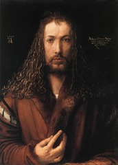 Artist: Albrecht Durer Title: Self-Portrait Place: Germany Time: 1500