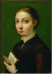 Artist: Anguissola Style: Mannerist Medium: Oil on canvas Museum/City: Gottfried Keller Collection, Bern, Switzerland Connection: Later influenced the Baroque style 1. The portrait was a request from Spain's king of the time 2. It is a rare example of Renaissance portraiture 3. Vasari wrote about the artist's immense talent
