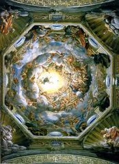 Artist: Antonio Correggio Title: Assumption of the Virgin Place: donne fresco of Parma Cathedral, Parma, Italy Time: 1530