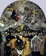 Artist: El Greco  Title: The Burial of Count Orgac Place: Spain Time: 1590
