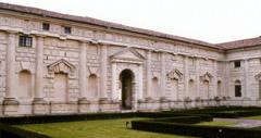 Artist: Giulio Romano Title: interior courtyard facade of the Palazzo del Te Place: Mantua, Italy Time: 1540