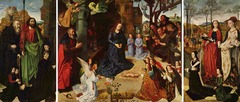 Artist: Hugo Van Der Goes Title:Portinari Altarpiece Place: Sant'egidio, Florence, Italy Time: 1480