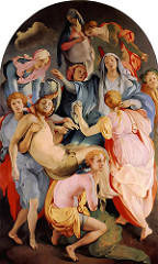 Artist: Jacopo Da Pontormo Title: Descent from the Cross Place: Capponi Chapel, Santa Felicita, Florence, Italy Time: 1530