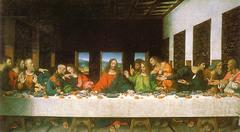Artist: Leonardo da Vinci Title: The Last Supper Place: Santa Maria delle Grazie, Milan, Italy Time: 1500