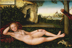Artist: Lucas Cranach the Elder Title: Nymph of the Spring Time: 1530