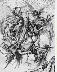 Artist: Martin Schongauer Title: Saint Anthony Tormented by Demons Time: 1490