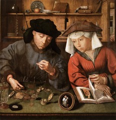Artist: Massys Title: Money Changer and His Wife Time: 1510