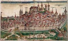 Artist: Michael Wolgemut Title: Wilhelm Pleydenwurff and workshop, The City of Nuremberg Time: 1490