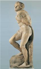 Artist: Michelangelo  Title: Bound Slave  Place: Louvre, Paris Time: 1510