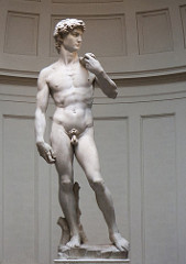 Artist: Michelangelo Title: David Place: Galleria dell'Academia, Florence, Italy  Time: 1500