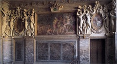 Artist: Primaticcio Title: Stucco and Wall Painting Place: Chamber of the Duchess of Etampes, Chateau of Fontainebleau, France Time: 1540