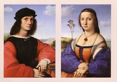 Artist: Raphael Title: Agnelo Doni and Maddalena Strozzi Time: 1500