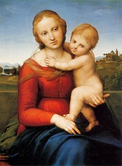 Artist: Raphael Title: The Small Cowper Madonna Time: 1500