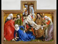 Artist: Roger Van Der Weyden  Title: Descent from the Cross Place: Louvain, Belgium Time: 1430