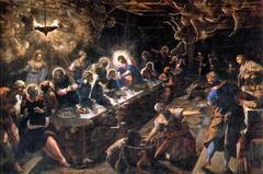 Artist: Tintoretto Title: Last Supper Place: San Giorgio Maggiore, Venice, Italy Time: 1600