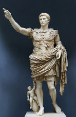 Augustus of Prima Porta Imperial Roman. Early first century C.E. Marble This statue is not simply a portrait of the emperor, it expresses Augustus' connection to the past, his role as a military victor, his connection to the gods, and his role as the bringer of the Roman Peace.