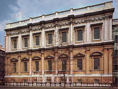 Banqueting House, 1619-1622, I. Jones, Whitehall Palace, London, England. - For formal receptions and masques. - Influenced by Palladio - Double Cube, ceiling paintings by Rubens