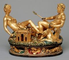 Benvenuto Cellini. Saltcellar of Francis I. 1539-43. Gold with enamel.
