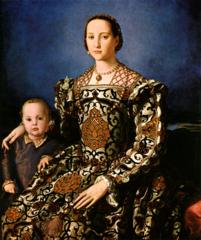 Bronzino. Italian. Portrait of Eleanora of Toledo and her Son, 1546. Mannerist.