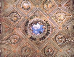 ceiling of camera degli sposi, mantegna, mantua