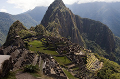 City of Machu Picchu Central highlands, Peru. Inka. c. 1450-1540 C.E. Granite (architectural complex) The site contains housing for elites, retainers, and maintenance staff, religious shrines, fountains, and terraces, as well as carved rock outcrops, a signature element of Inka art.