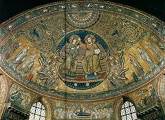 Coronation of the Virgin, Jacopo Torriti, 1295, apse of S.M. Maggiore, Rome, mosaic