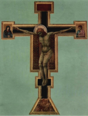 Crucifix, Giotto, 1295-1300, S. Maria Novella, Florence, tempera on panel