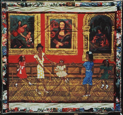 Dancing at the Louvre, from the series The French Collectiom, Part I; #1 Faith Ringgold. France, Europe. 1991 C.E. Acrylic on canvas, tie-dyed, pieced fabric border To break boundaries and combine a multitude of artistic techniques. Combines Modern art, African-American culture, and personal experiences