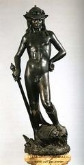 Donatello David 1443 bronze, Bargello
