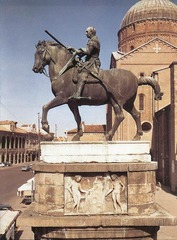 Donatello Gallamelata 1445-53 bronze. Padua. 1st bronze equestrian monument after antiquity. Marcus Aurelius in Rome