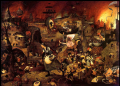 Dulle Griet Artist: Pieter Bruegel Themes -Gender: women in hell; they led the world to wrath and ruin -Illusion/Contemporary allegory: political leaders in 1560s were leading people to doom
