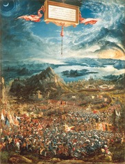 Figure 23-10 ALBRECHT ALTDORFER, The Battle of Issus, 1529. Oil on wood, 5' 2 1/4