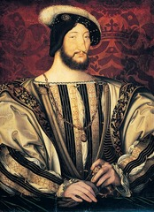 Figure 23-12 JEAN CLOUET, Francis I, ca. 1525-1530. Tempera and oil on wood, approx. 3' 2