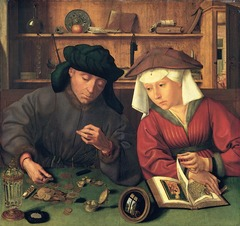 Figure 23-16 QUINTEN MASSYS, Money-Changer and His Wife, 1514. Oil on wood, 2' 3 3/4