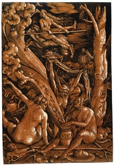 Figure 23-3 HANS BALDUNG GRIEN, Witches' Sabbath, 1510. Chiaroscuro woodcut, 1' 2 7/8