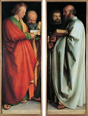 Figure 23-7 ALBRECHT DÜRER, Four Apostles, 1526. Oil on wood, each panel 7' 1