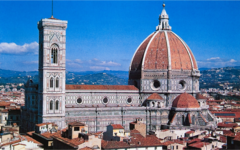 Filippo Brunelleschi dome of Florence Cathedral Florence, Italy Period: Renaissance elongates dome shape to pointed dome has gothic architectural features